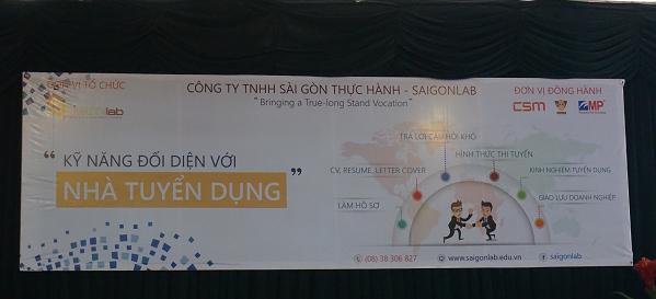 CSM đồng hành cùng Saigon Lab trong buổi giao lưu
