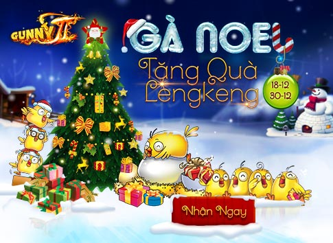 Gà Noel nhận quà leng kengg