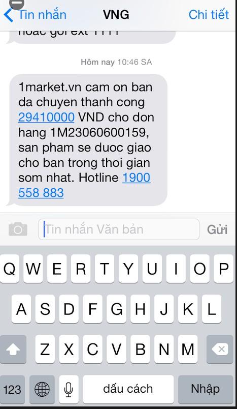 vng sms chiến lược  VNG ứng dụng SMS