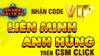Hoàn tất đền bù quà tặng code Liên Minh Anh Hùng trên CSM Click