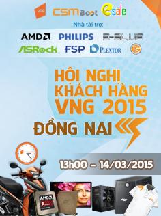 Hội nghị khách hàng VNG 2015 tại khu vực Tỉnh Đồng Nai
