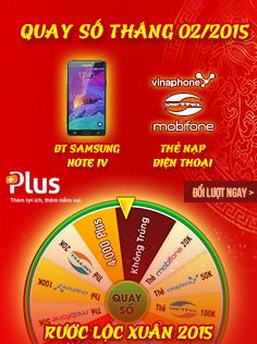 Cùng MyPlus tham gia Vòng quay Rước Lộc Xuân tháng 2/2015