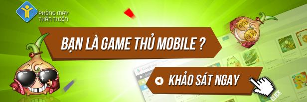 Bảng khảo sát game Mobile tháng 07